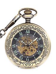 Masculino relógio mecânico Mecânico - de dar corda manualmente Noctilucente Lega Banda Vintage Preta Bronze