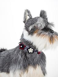 Bowtie ajustável floral do cão do gato