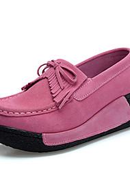 Черный Синий Розовый Красный Серый-Женский-Для праздника Повседневный-Замша-На платформе-На платформе-На плокой подошве