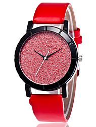 Жен. Модные часы Китайский Кварцевый PU Группа Повседневная Черный Белый Синий Красный Розовый