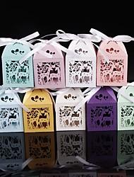 50 Pièce / Set Titulaire de Faveur-Rectangulaire Papier nacre Boîtes à cadeaux Non personnalisé