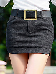 Femme Taille Normale Au dessus des genoux Jupes,Moulante Couleur Pleine