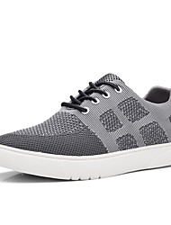 Man's Shoes Sneakers Spring / Fall / Winter Comfort  Outdoor / Office/ Funny Casual Shoes Grey Blue Black Breathable Running Shoes Multiple Color