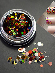 1bottle fashion nail art mixte taille colorée laser glitter paillette tranche p2
