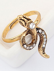 Korean Style Personality Rhinestone Small Snake Ring Movie Jewelry