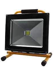 Hkv® 1pcs 50w 4850-4950lm 6000-6500k lumière blanche froide portable chargeable floodlight feux d'urgence led projecteur (ac 85-265v)