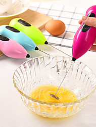 Stainless Steel Electric Hand-held Kitchen Egg Beater Mini Coffee Stirrer Milk Color Random