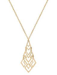 Women's Pendant Necklaces Jewelry Geometric Chrome Unique Design Dangling Style Handmade Punk Hip-Hop Simple StyleRose Gold Silver Black