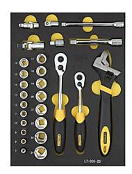 Stanley verktøy sett 27 stk 10 12,5 mm serie 6 vinkel ermet lt-025-23