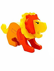 Quebra-cabeças Quebra-Cabeças 3D Blocos de construção Brinquedos Faça Você Mesmo Leão Madeira Modelo e Blocos de Construção