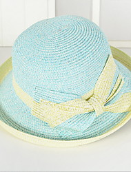 Bow Tie Straw Hat Sun Hat Outdoor Beach  Uv Lady Men Wide Large Brim Floppy Foldable Cap