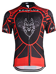 Kooplus Cycling Jersey Men's Short Sleeve Bike Breathable Quick Dry Jersey Tops Polyester Stripe Spring Summer Cycling/Bike