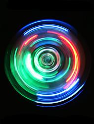Fidget Spinner Hand Spinner Toys Tri-Spinner Plastic EDCLED Lighting LED light Stress and Anxiety Relief Office Desk Toys for Killing