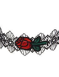 lureme® Women's Choker Necklaces Jewelry Geometric Lace Unique Design Logo Style Personalized Luxury Sideways Multi-ways Wear Statement Jewelry