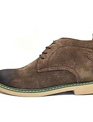 Herren-Sneakers Frühjahr Komfort Schweineleder lässig braun grau schwarz