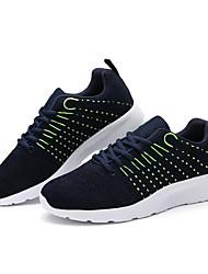 Herren-Sneakers Komfort Stoff athletisch blau grau schwarz