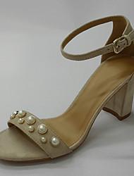 Da donna-scarpe da sposa-Matrimonio Ufficio e lavoro Formale-Anello per dita del piede Club Shoes-Quadrato-Pelliccia-