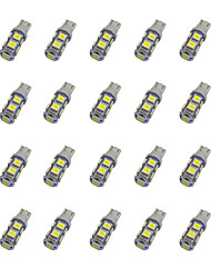 20pcs t10 9 * 5050 smd led voiture ampoule lumière blanche dc12v