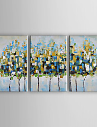 Hand-Painted Modern Abstract Trees Oil Painting On Canvas Wall Art For Home Decoration Ready To Hang 40*60cm*3Pcs