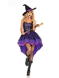 Costumes de Cosplay Sorcier/Sorcière Fête / Célébration Déguisement d'Halloween Autres Robe Chapeau Attelle de Poignet Halloween Féminin