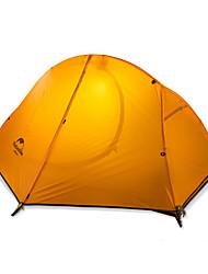 1 Pessoa Tenda Duplo Tenda Dobrada Um Quarto Barraca de acampamento Náilon Silicone Mantenha Quente Dobrável-Campismo