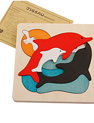 Пазлы Деревянные пазлы Строительные блоки Игрушки своими руками Дельфин Дерево Хобби и досуг