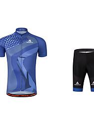 Maillot et Cuissard de Cyclisme Vélo La peau 3 densités Bandes Réfléchissantes Polyester Coolmax Printemps Eté Automne Cyclisme/Vélo