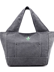 Women Shoulder Bag Canvas All Seasons Sports Casual Outdoor Office & Career Professioanl Use Hobo ZipperDark Fuchsia Light Gray Coffee