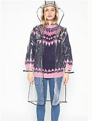 Korean Fashion Jelly Raincoat Outdoor Riding Windbreaker Poncho Creative EVA Transparent Raincoat Free size