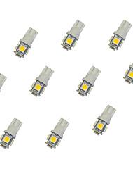 10pcs t10 5 * 5050 smd вело свет электрической лампочки автомобиля dc12v