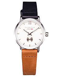 Women's Brand Wrist watch Casual Watch Analog Japanese Quartz 30M Water Resistant / Water Proof Brown Bicolor Genuine Leather Strap