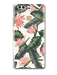 Для Чехлы панели Ультратонкий С узором Задняя крышка Кейс для Цветы Мягкий TPU для HuaweiHuawei P9 Huawei P9 Lite Huawei P9 Plus Huawei