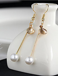 May Polly Pearl shell long all-match Earrings