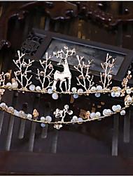 Rhinestone alliage imitation perle headpiece-mariage occasion spéciale tiaras headbands 1 pièce