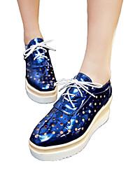 Feminino-Rasos-Gladiador Sapatos clube Conforto Inovador-Anabela--Couro Ecológico-Ar-Livre Escritório & Trabalho Social Casual Para