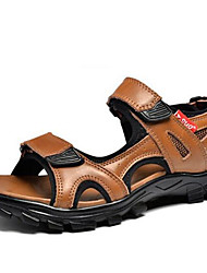 Men's Sandals Spring Summer Fall Comfort Nappa Leather Outdoor Dress Casual Light Brown Black Water Shoes