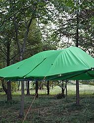 3 a 4 Personas Tienda Parasol Tienda Doble Carpa para camping Tienda de Campaña Plegable Impermeable Resistente al Viento Resistente a