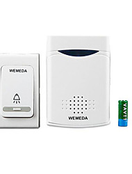 WEMEDA Wireless Doorbell DC Battery Remote Control Electronic Home Long Distance Old Pager 1 Receive 1 Button