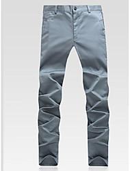 Herren Mittlere Hüfthöhe Micro-elastisch Chinos Skinny Hose einfarbig