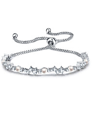 Women's Chain Bracelet Friendship Fashion Zircon Round Jewelry For Anniversary Gift Valentine Christmas Gifts