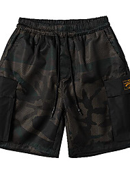 Homme simple Taille Normale Short Pantalon,Ample Camouflage
