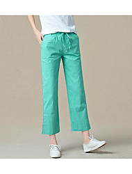 Women's High Rise strenchy Chinos Pants,Street chic Loose Solid