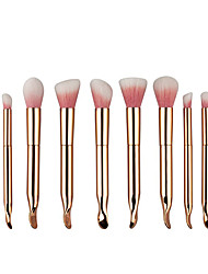 10pcs Contour Brush Makeup Brush Set Blush Brush Eyeshadow Brush Lip Brush Brow Brush Concealer Brush Foundation Brush Nylon Synthetic Hair