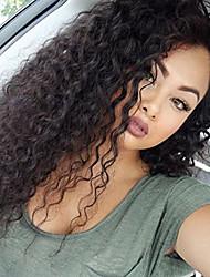 Perucas virgens do laço do cabelo do estilo novo brasileiro peruca encaracolado do cabelo virgem encaracolado com cabelo do bebê laço