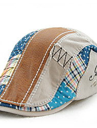 Men's Cotton Beret Hat Peaked Cap Casual Patchwork Summer All Seasons Grey