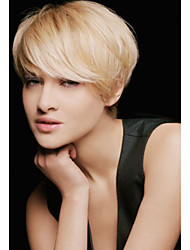 Refreshing  Short Hair  Fluffy  Human Hair Wig   Elegant Woman hair
