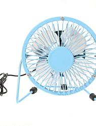 360 graus de rotação usb ventilador pequeno ventilador mini 4 estudantes de alumínio polegadas ultra-silencioso usb ventilador