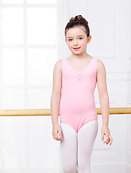 Ballet Leotards Kid's Training Cotton Spandex 1 Piece Leotard