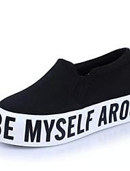 Damen-Loafers & Slip-Ons-Outddor Lässig-Leinwand-Creepers-Komfort-