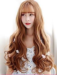 Япония и юг Корея мода жизнь золото коричневый естественный волна естественный песня высокая температура провод парик